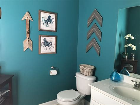 Teal Color Bathroom by Teal Bathroom Rustic Arrows Home Sweet Home In 2019