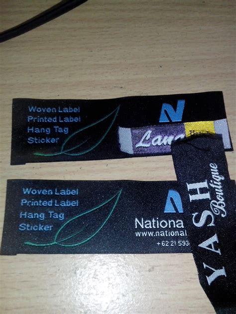 Jual Kain Spunbond Cibinong jasa pembuatan label woven cetak sablon merchandise