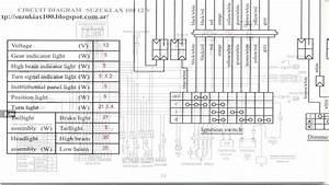 Diagrama Del Circuito Electrico Para Moto Suzuki Ax 100 12 Volt  Hd