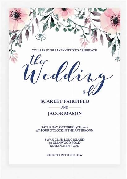 Invitation Template Invitations Templates Watercolor Floral Kindpng