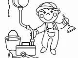 Plumber Coloring Pages Getcolorings Drawing sketch template
