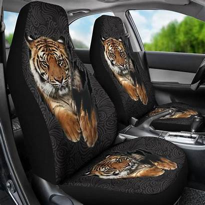Seat Covers Tiger Printed