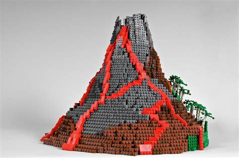 what are lava ls made out of volcano this volcano was built by brandon griffith and i
