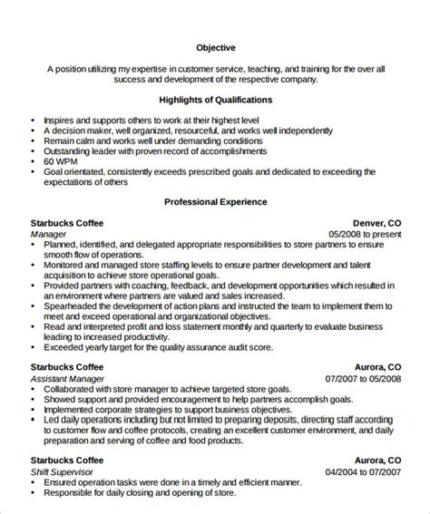 store manager resume 10 documents in pdf
