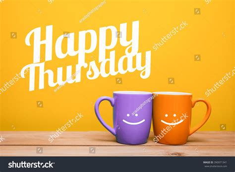 Happy Thursday Coffee Cup Concept Isolated On Yellow Calories In Yakun Iced Coffee Butter Wsj Bulletproof Recipe With Mct Oil Picnik Keto Wikipedia Mocha K Cup Makers Cheap Dr Hyman