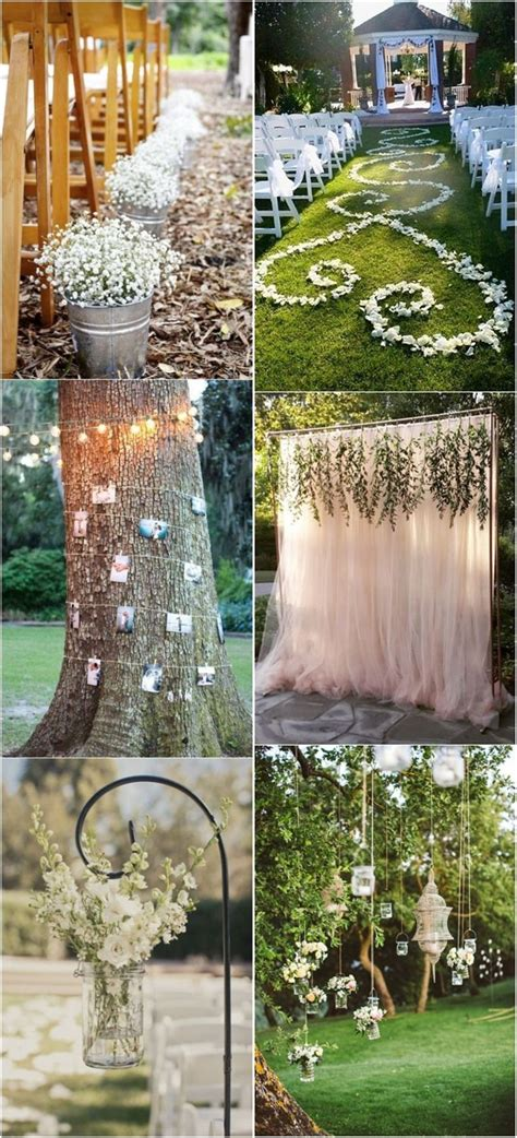 20 genius outdoor wedding ideas wedding decorations