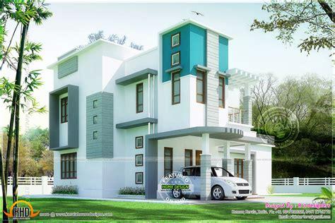 Beautiful 3 Bedroom Modern House  Kerala Home Design And