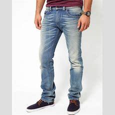 Diesel Thavar 0806p Men's Slim Skinny Light Wash Distressed Jeans 27 X 30 Ebay