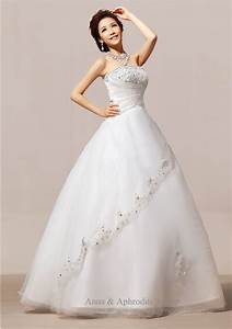 cream white color exquisite no train strapless winter With creme wedding dress