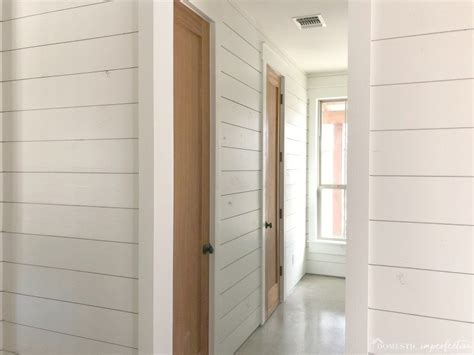 White Painted Shiplap by Everything I Ve Learned About Painting Shiplap Domestic