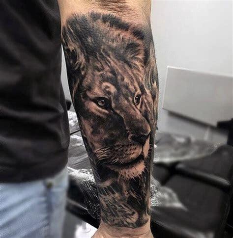 king   lion tattoos  men improb