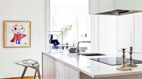 peinture pour cuisine blanche cuisine blanche esprit loft décoration maison et idées