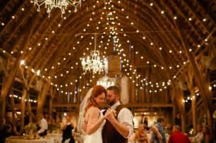 rustic barn wedding barn wedding with lights
