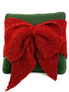 bow pillows christmas bows and knitting patterns on pinterest