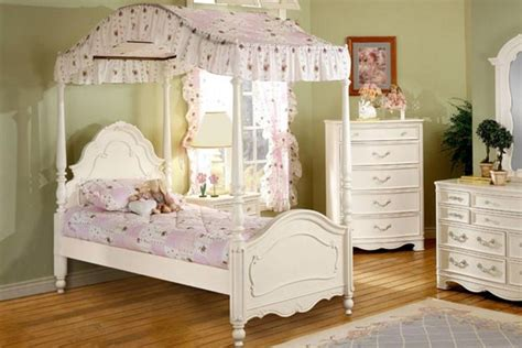 Michelle Twin Canopy Bed At Gardner-white