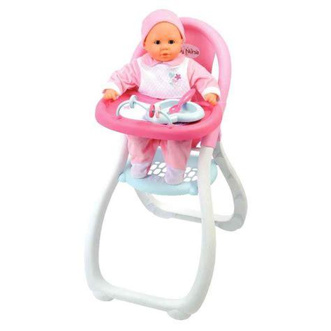 chaise haute poup e chaise haute baby pour poupées smoby accessoires
