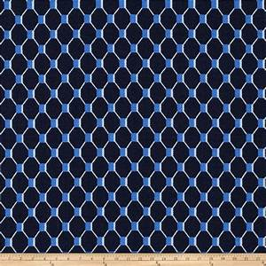 Michael Miller Fish Net Indigo - Discount Designer Fabric ...