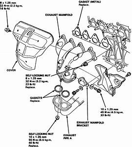 2000 Honda Civic Exhaust System Diagram