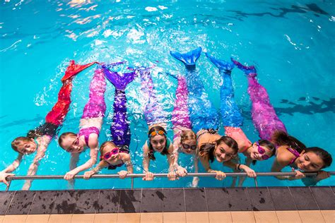 swimming school  teaching people   mermaids swns