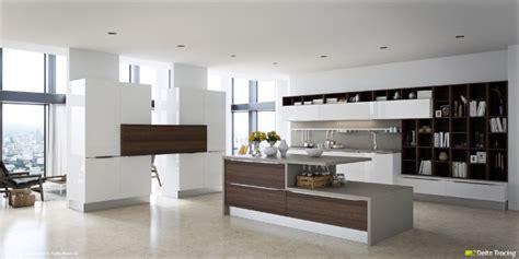 cuisine brun et blanc cuisine bois et blanc moderne 25 idées d aménagement