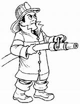 Coloring Pages Firefighter Cartoon Chinese Beach sketch template