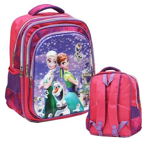 jual tas ransel disney frozen fever salju 5d timbul hologram 4 kantung besar ukuran anak sekolah