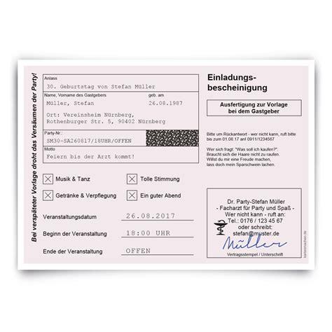 einladungskarten geburtstag krankschreibung krankmeldung