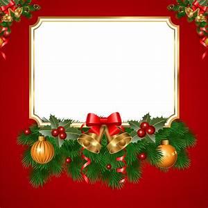 Christmas Transparent Red PNG Frame | Navidad | Pinterest ...
