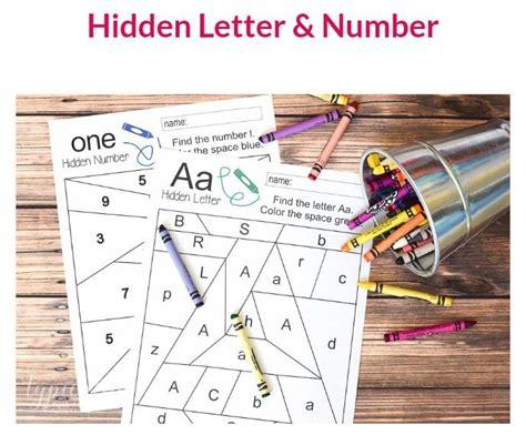 hidden letter  number worksheet  images hidden