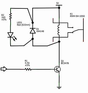 microcontroller 12v relay circuit converted to 5v relay With ballast of a fluorescent lamp electrical engineering stack exchange