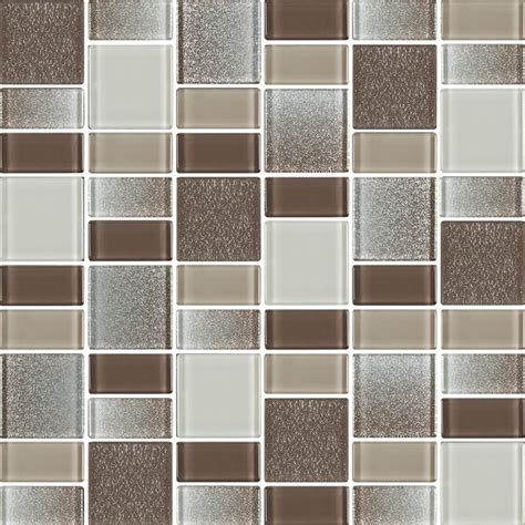 fusion brown glass mosaic tiles 10 square
