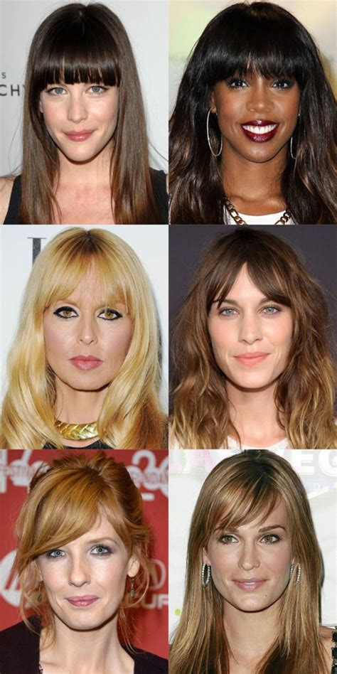 worst bangs  long face shapes hair beauty   love long face