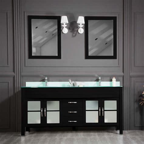 awis 72 black sink bathroom cabinet ottohomegoods
