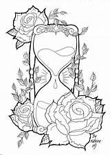 Hourglass Kleurplaten Deviantart Koyasan Bezoeken Mandala sketch template
