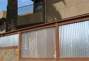 sheet metal fence landscape contemporary with cedar With what kind of paint to use on kitchen cabinets for corrugated metal wall art