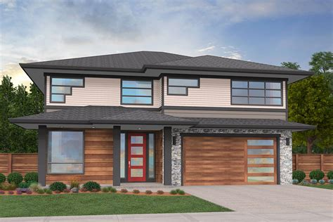 stunning  story modern prairie house plan ms architectural designs house plans