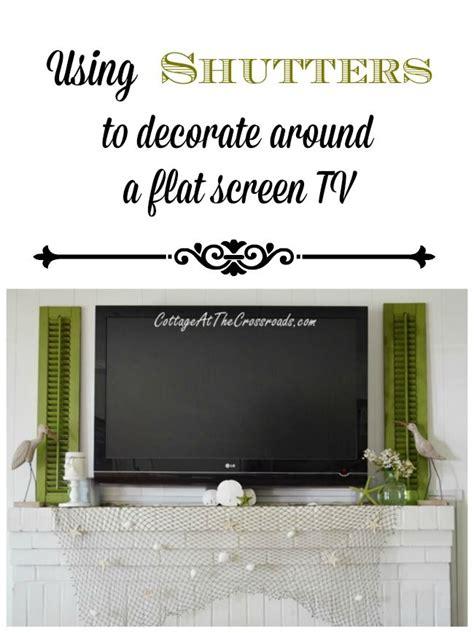 shutters  decorate   flat screen tv diy