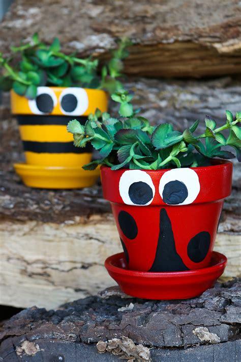 painted terra cotta flower pots