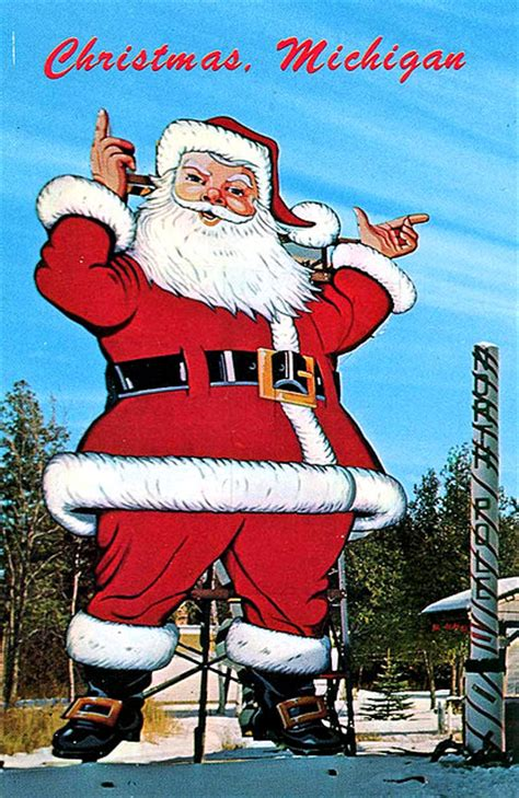 michigan christmas picture ho ho ho a gallery of vintage santa postcards