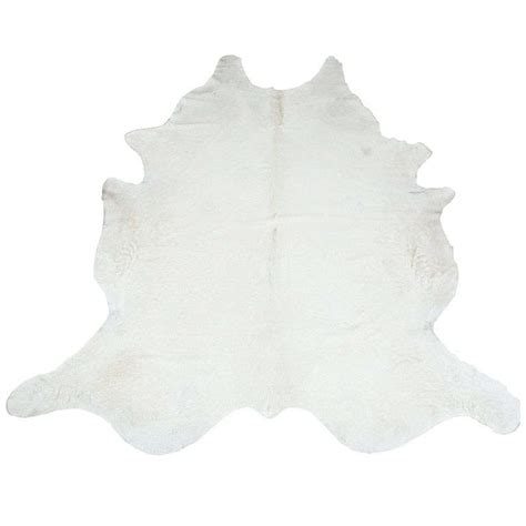 White Cowhide Rug by All White Cowhide Rug At 1stdibs