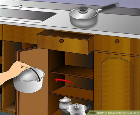 cleaning varnished kitchen cabinets 3 ways to clean kitchen cabinets wikihow 5466