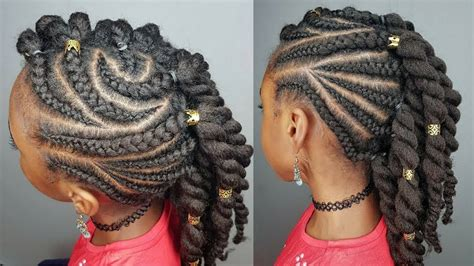 SIDE BRAIDS & TWISTS HAIRSTYLES FOR GIRLS YouTube