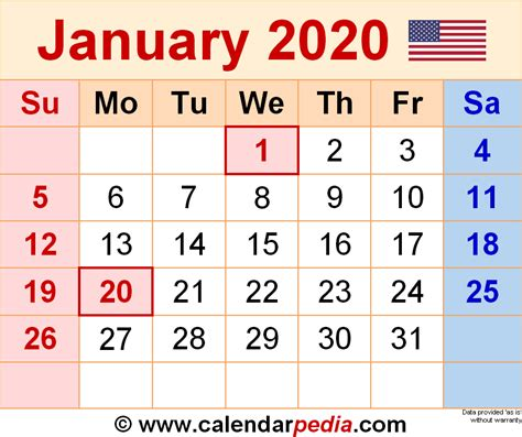 january calendar blank january calendar printable