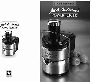 Jack Lananne U0026 39 S Power Juicer Juicer Ssmt1000 User Guide