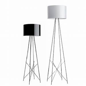 Flos ray f1 lampara of floor lamp dimmer f5916009m for White floor lamp with dimmer