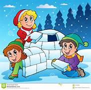 Winter Scene With Kids...