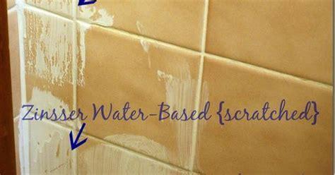 To prime tile for painting, use zinsser oil based primer