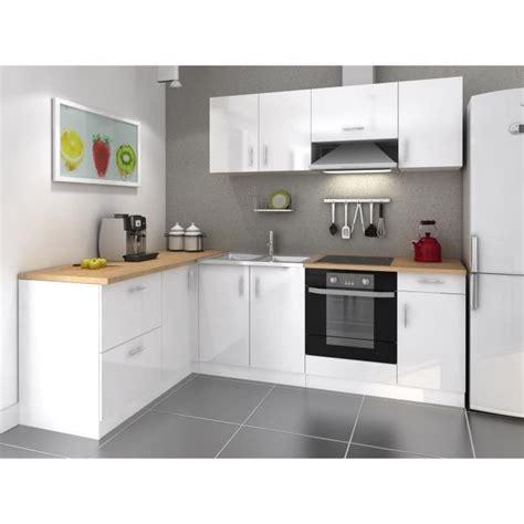 meuble cuisine blanc laqué cosy cuisine complète 2m80 laqué blanc achat vente
