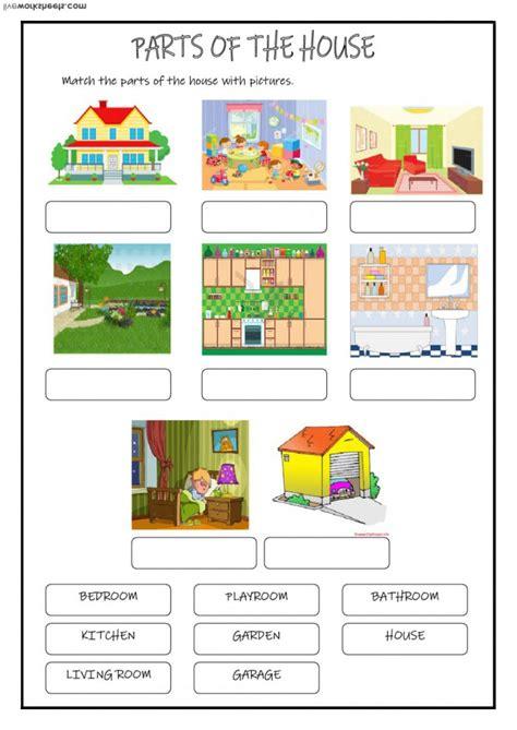 parts   house worksheets worksheets