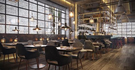 country wall decor ideas industrial bar and restaurant on behance